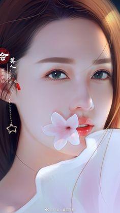 Beautiful Asisn woman with beautiful skin. Art Anime Fille, Anime Art Girl, Beautiful Chinese Women, Beautiful Asian Girls, Pretty Asian, Fantasy Girl, Art Beauté, Lovely Girl Image, Cute Girl Wallpaper