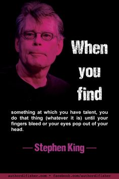 With over 50 years of writing, 58 novels, 6 non-fiction books, and something like 200 short stories, Stephen King appears to have taken his own advice. by penelope Motivational Stories, Inspirational Quotes, Stephen King Quotes, Book Writing Tips, Writing Images, Writing Ideas, Writer Quotes, Quotes Quotes, Writing Motivation