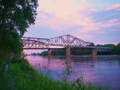 These bridges cross the Missouri River into Iowa from Plattsmouth, NE Missouri River, County Seat, Great Plains, Big Sky, The Other Side, Pathways, Nebraska, Bridges, Iowa