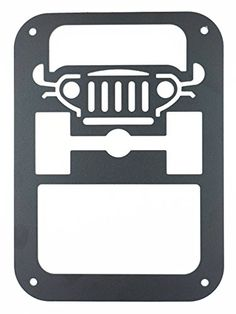 XYZCTEM®2 X Tail lamp Tail light Cover Trim Guards Protector for Jeep Wrangler Sport X Sahara Unlimited Rubicon 2007-2015 (Jeep Car LOGO)-Jeep Wrangler Accessories XYZCTEM http://www.amazon.com/dp/B013277BX6/ref=cm_sw_r_pi_dp_Vabgwb0769VYG