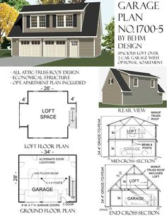 2 story garage with second story apartment or space under for 2 car garage addition plans