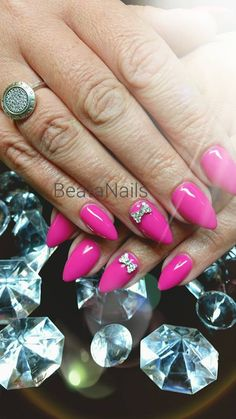 Gel Polish Like a Princess by Beata Gorgol-Pawlucińska:) Find more product at www.indigo-nails.com #nailart #nails #indigo #pink #princess #swarovski