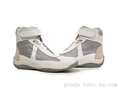 Prada Footwear in White Prada Sneakers, High Top Sneakers, Prada Tote, Prada Men, Michael Kors Outlet, Puma Fierce, High Tops, Footwear, Luxury