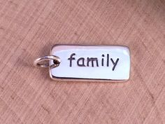 Family Charm Family Pendant Family Rectangle by MillpondJewelryCo, $9.49