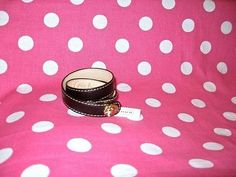 New Coach Legacy Double Wrap Leather Bracelet Brown Mahogany Gold Turnlock   eBay