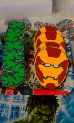 Marvels birthday cookies