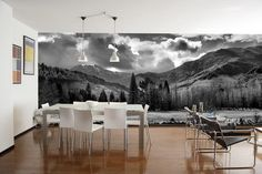 bedroom wall mural mountains - Google Search