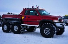 All-Terrain 6x6 Dodge RAM in Iceland.