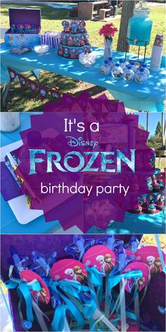 Frozen Birthday Party Ideas: Pink, Purple, Blue, and a Jumper, Too!