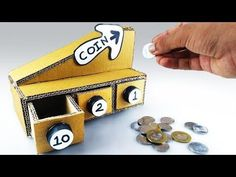 DIY Coin Sorting Machine from Cardboard at Home - Self Sorting Coin Bank How to Make Easy - YouTube