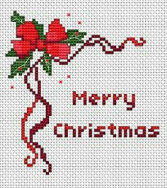 Merry Christmas cross stitch card design for 14 count fabric white.This pattern uses 6 DMC thread colors. Merry Christmas cross stitch card design for 14 count fabric white.This pattern uses 6 DMC thread colors. Cross Stitch Christmas Cards, Xmas Cross Stitch, Cross Stitch Borders, Cross Stitch Kits, Counted Cross Stitch Patterns, Cross Stitch Designs, Cross Stitch Embroidery, Needlepoint Patterns, Embroidery Patterns