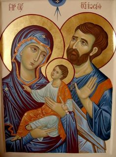 Holy Family Religious Photos, Religious Icons, Religious Art, Christ Is Risen, Religion Catolica, Mary And Jesus, Byzantine Icons, Beautiful Nature Wallpaper, Madonna And Child