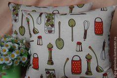 Купить Декоративные наволочки Кухня. - комбинированный, наволочка, наволочка на подушку, наволочки на подушки, декоративная подушка
