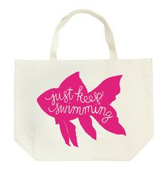 Kinzie Big Fishy Tote - Just Keep Swimming
