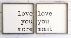 Love You More / Love You Most SET