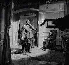 behind the scenes of The Longest day 1962   Peter Lawford & Bourvil & Curd Jurgens