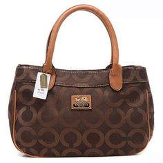 Coach In Signature Large Coffee Satchels AQH