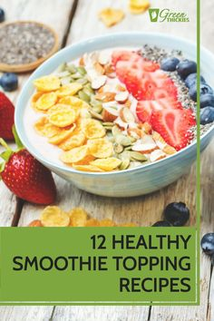 Here are the best, most healthy smoothie topping recipes. If you like to make your food from scratch, you are going to love these tasty homemade recipes.