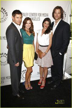 Mr and Mrs. Ackles with Mr. and Mrs Jarad Padalacki.  Jensen, Danneel, Gen and Jared