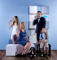 The Linde family in a Mad Men pose :-) All furniture Anne Linde designs