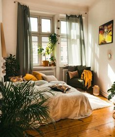 Boho Bedroom Home . - boligindretning diy, Boho Bedroom Home . Sala Grande, Aesthetic Room Decor, Boho Aesthetic, Home Bedroom, Bedroom Ideas, Modern Bedroom, Contemporary Bedroom, Master Bedroom, Bedroom Designs