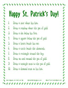 Free Spatial Directions: St. Patrick's Day   - Repinned by @PediaStaff – Please Visit  ht.ly/63sNt for all our pediatric therapy pins