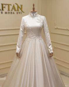 Wedding Gown A Line, Sweet Wedding Dresses, Muslim Wedding Dresses, Elegant Wedding Dress, Bridal Dresses, Wedding Gowns, Elegant White Dress, Muslimah Wedding Dress, Hijab Dress Party