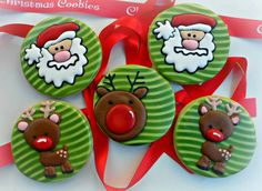 Santa and Rudolph cookies