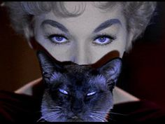 "Kim Novak in Bell Book and Candle (1958, dir. Richard Quine) ""I sit in the subway sometimes, on buses, or the movies, and I look at the people next to me and I think…'What would you say if I told you I was a witch?' They'd never believe it. I just know they wouldn't believe it. And I giggle and giggle to myself."""
