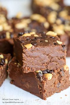 Easy Chocolate Peanut Butter Fudge takes just a few minutes of prep and only 3 simple ingredients you likely already have. This is one of our family favorite treats!