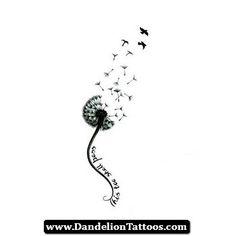 Music Note Dandelion Tattoo 15 - http://dandeliontattoos.com/music-note-dandelion-tattoo-15/