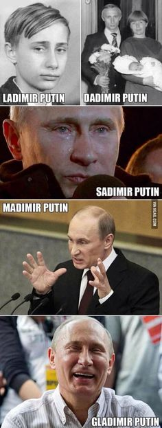 Stages of putin