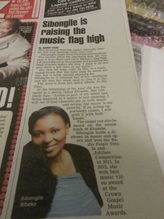 Sibongile Sibeko in the Daily Sun - October 29, 2013 - front page Sun Buzz