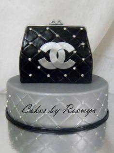 Black Chanel Purse Cakes by Raewyn http   www.facebook.com  6643643a58c70