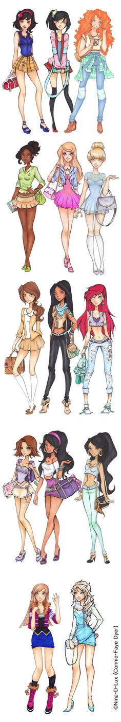 disney highschool (part 1) - ©Nina-D-Lux (Connie-Faye Dyer)