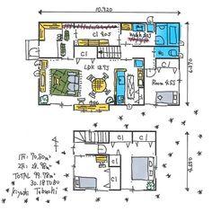 埋め込み House Plans, Floor Plans, Layout, Flooring, How To Plan, Architecture, Room, Home Decor, Sketch