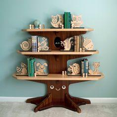 Baum aus Holz Bücherregal