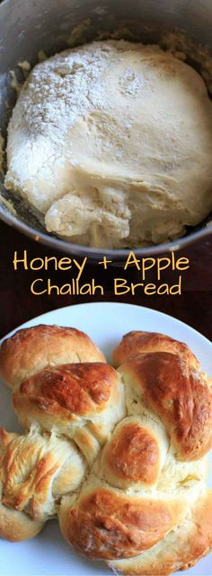 Honey Apple Challah Bread. A family favorite that is sweetened up with honey and apple chunks and braided together. Great for holidays!