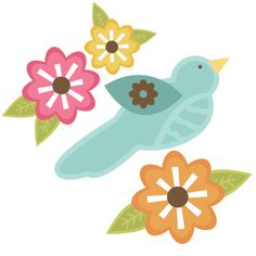Bird With Flowers SVG files for cutting machines