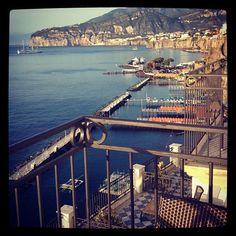 Sorrento coast seen from a balcony at #Hotel Bellevue Syrene.