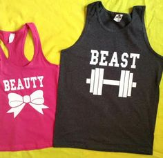 Disney+Beauty+&+The+Beast+Couples+Tank+by+4everBigRedCreations,+$38.00