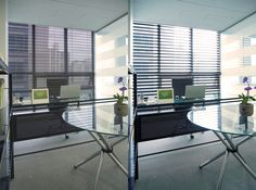 Vitswell Double Layer Blinds in office