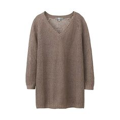 WOMEN Linen Mesh Sweater