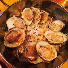 """""""Love the garlicky and cheesy fettuccine with clams from Upstate - definitely worth the long wait!"""" Photo taken by @yi_reservation on Instagram, pinned via the InstaPin iOS App! http://www.instapinapp.com (05/23/2015)"""