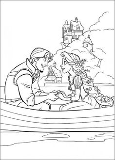 free disney tangled coloring pages 1