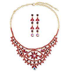 43906 Zinc Alloy,Crystal jewelry set