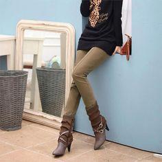 TANGNEST Velvet Thick Legging 2016 Autumn Winter Women Pants Female Patchwork Pencil Skinny Trousers Plus Size S-4XL WKX243