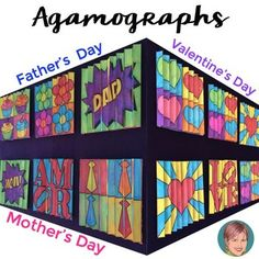 Valentine's Day, Mother's Day & Father's Day Agamograph