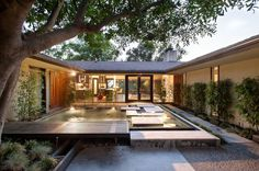 Water as a Design Element, Part 2 -- Pasadena home designed in 1960 by John Galbraith. Photo courtesy of My Home as Art.