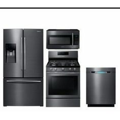 Samsung Black Stainless Steel Appliances...Not sure about these yet....for Kitchen